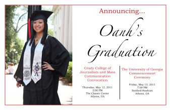 Graduation Announcement (2011)