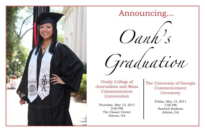 Graduation Announcement (2011)