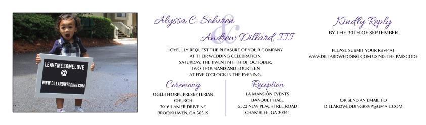 Double-Sided, 3-Panel Wedding Invitation (2014)