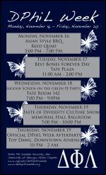 Delta Phi Lambda Week Informational Flyer (2009)