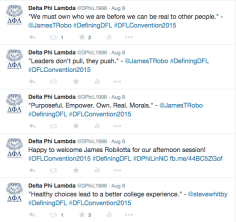 Example of Live Tweeting at an Event (2015)