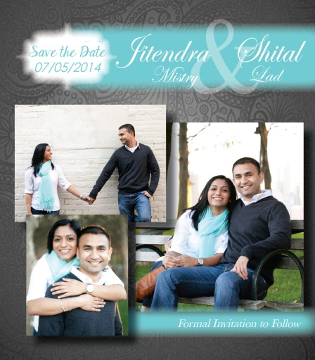 Save the Date for Shital and Jitendra's Wedding (2014)